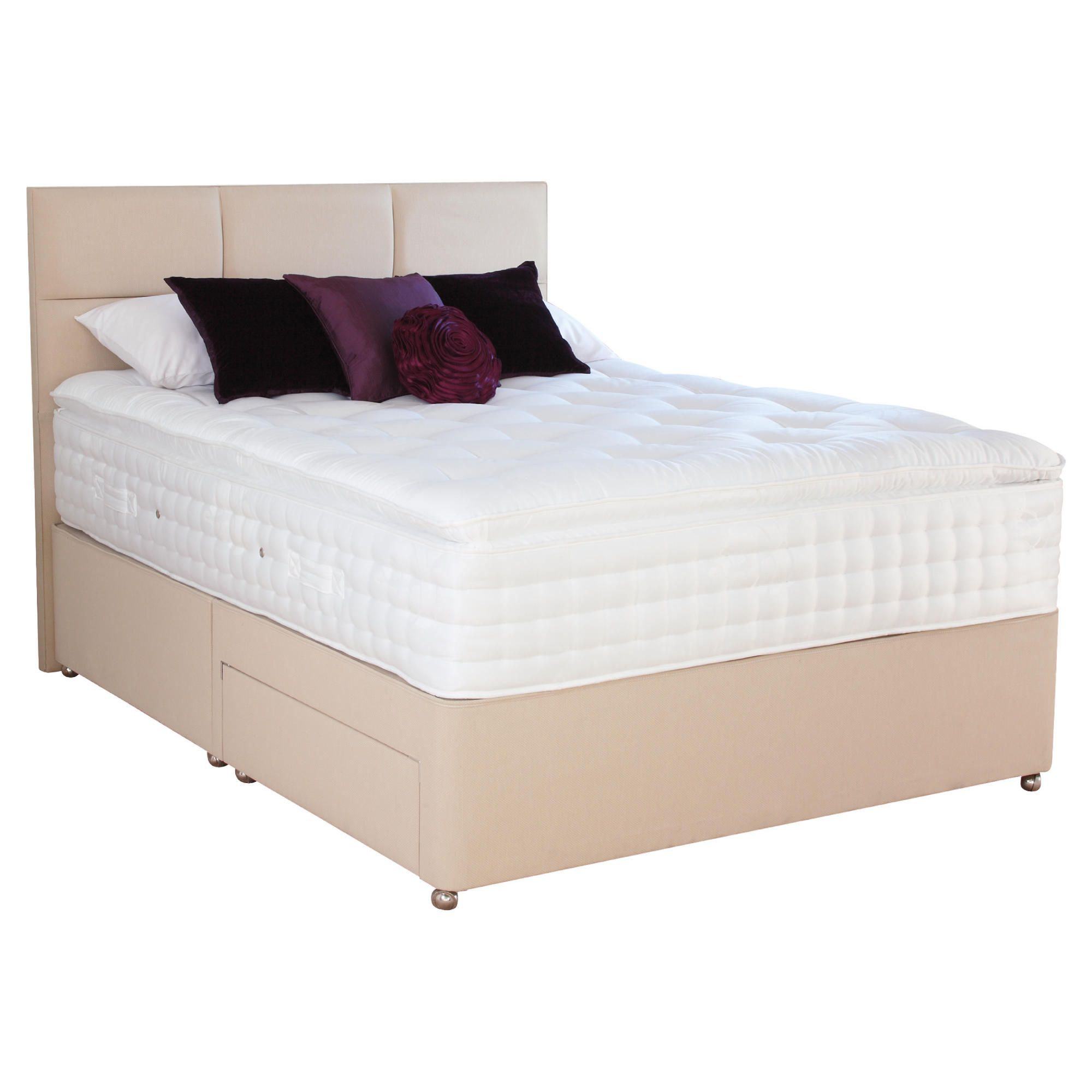 Relyon Luxury 2400 2 Drawer Divan Bed Superking at Tesco Direct