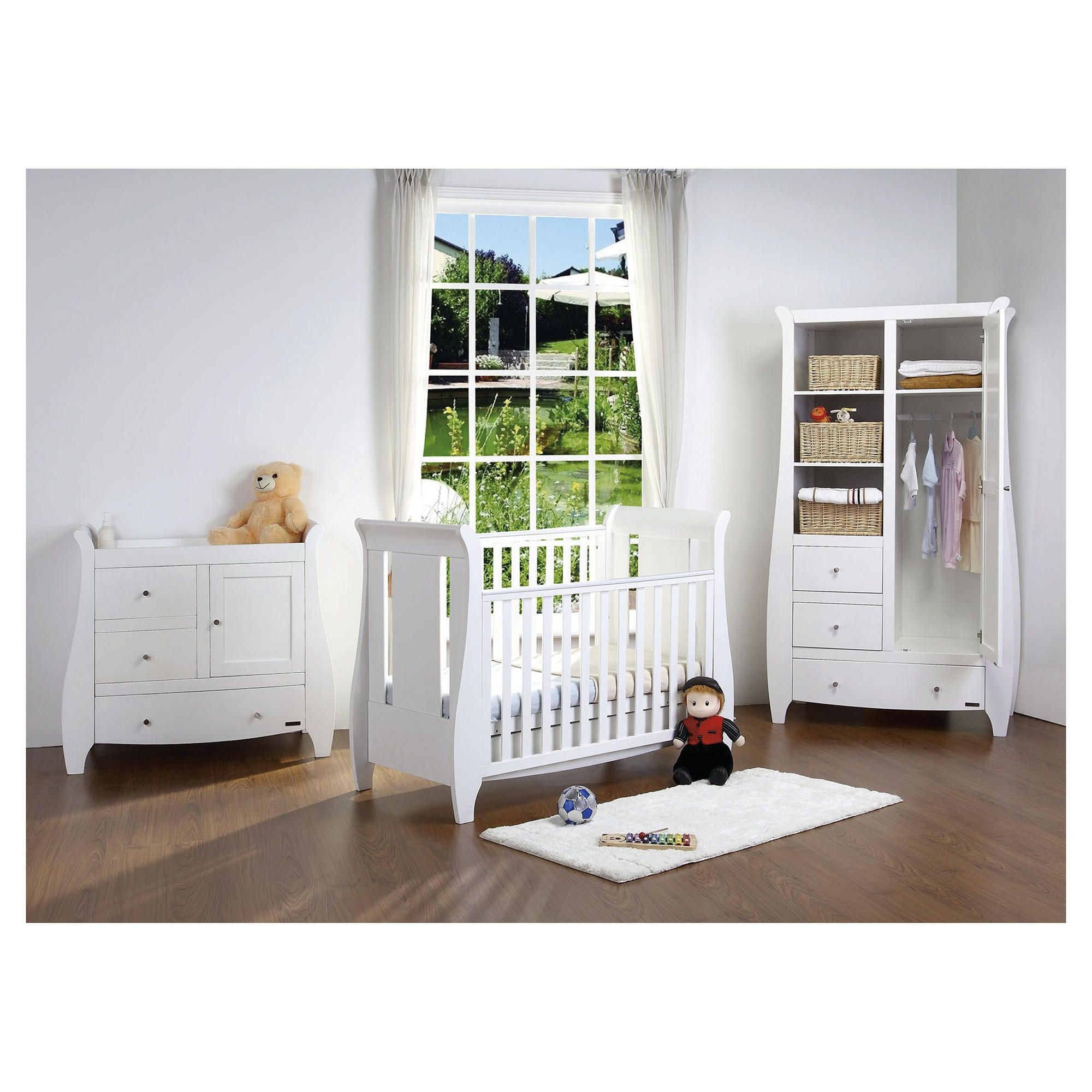 Tutti Bambini Katie 3 Piece Room Set, White with FREE Home Assembly at Tesco Direct