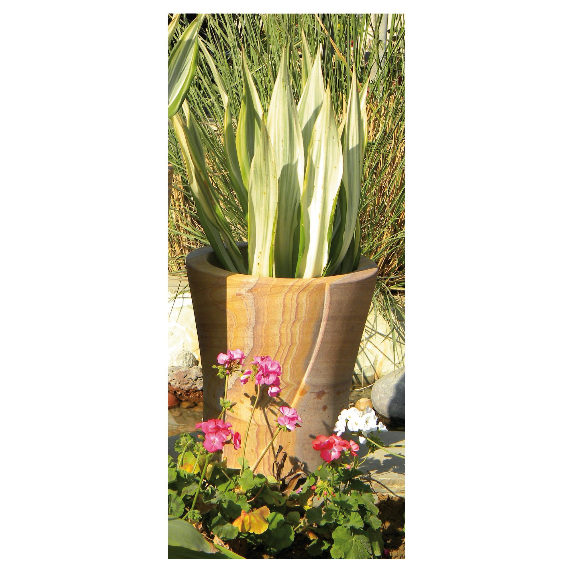Lacerta Rainbow Stone Planter 40cm at Tesco Direct