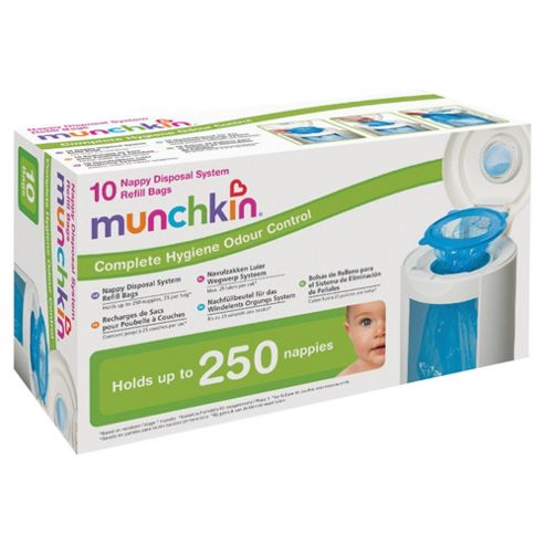Munchkin 10 Nappy Disposal System Refill Bags