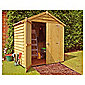 Finewood 4x6 Apex Dip Treated Overlap Double Door Shed