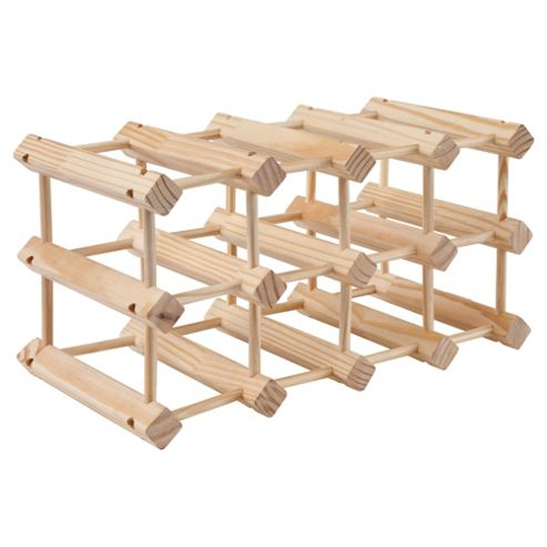 Wow Pine 12 Bottle Wine rack