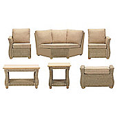 Corsica 6 Pc Conservatory Set (Left, Right, Corner, Coffee table, Lamp table & Footstool)