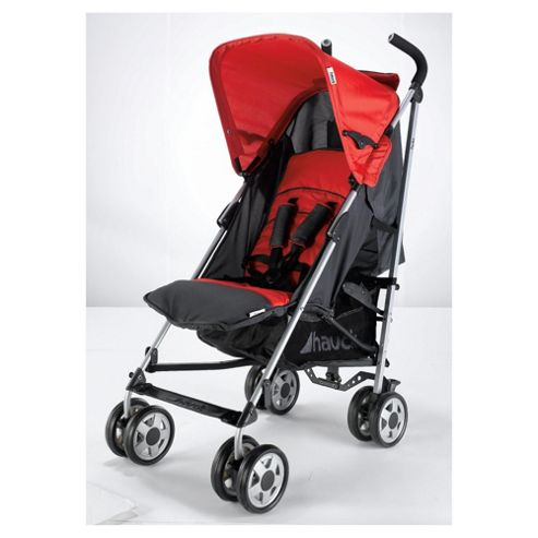 Hauck Turbo Pushchair And Raincover, Red