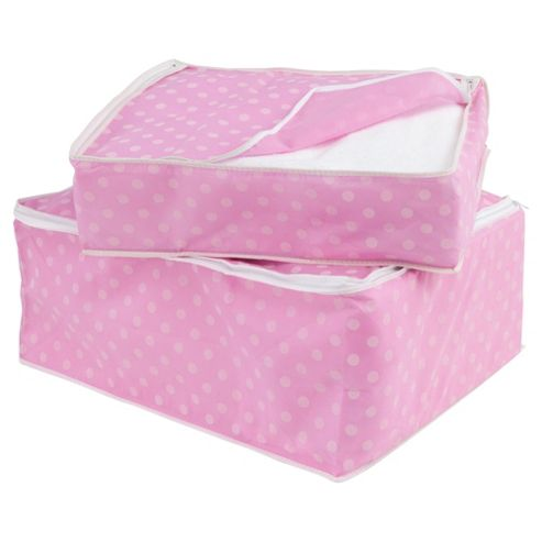 Pois blanket set, pink