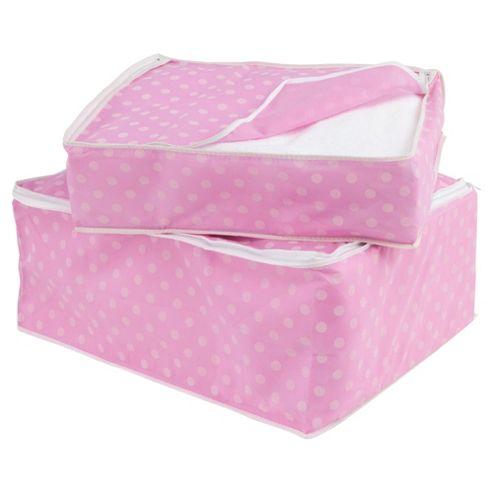 Pois blanket set, pink