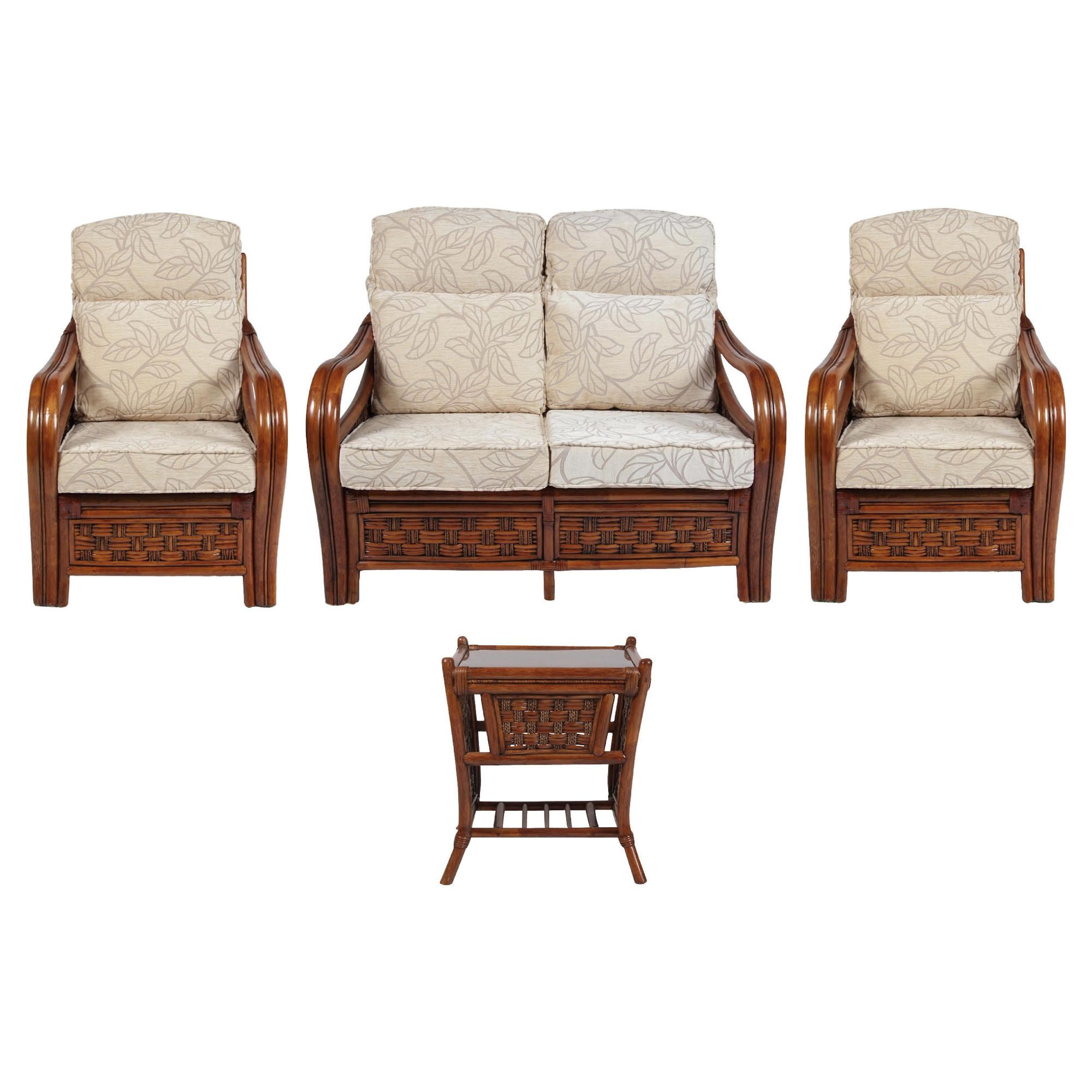Santiago 4 Piece Suite Conservatory Set (sofa, 2 x chairs & Lamp table) at Tescos Direct