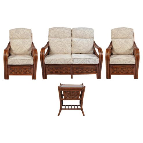 Santiago 4 Piece Suite Conservatory Set (sofa, 2 x chairs & Lamp table)