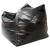 Kaikoo Faux Leather Chillout Chair, Black