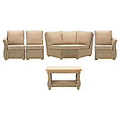 Corsica 5 Piece Suite Conservatory Set (Left, Right, Armless, Corner & Coffee table)