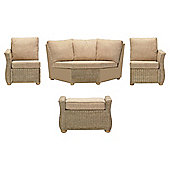 Desser Corsica 4-piece Rattan Conservatory Furniture Set with Footstool