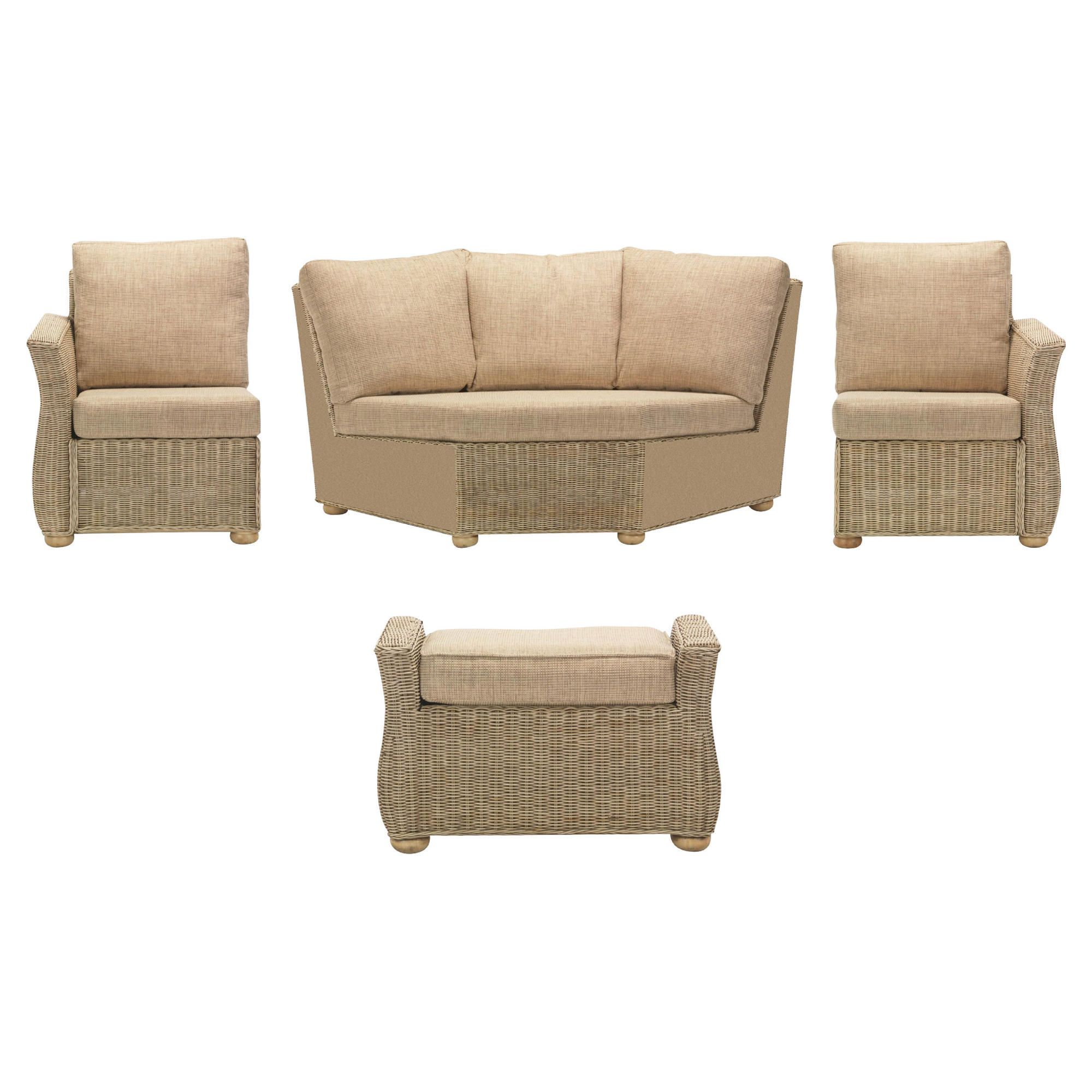 Corsica 4 Piece Suite Conservatory Set (Left, Right, Corner & Footstool) at Tesco Direct