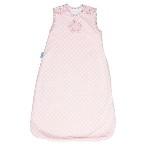 Grobag Baby Sleeping Bag, Button Rose 1.0 tog 6-18 Months