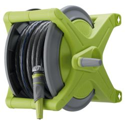 Tesco 20m Anti Kink Hose, Reel & Starter Set