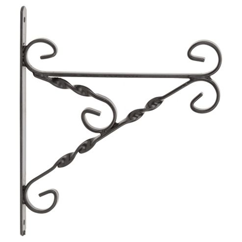 Heavy Duty Hanging Basket Bracket - Black