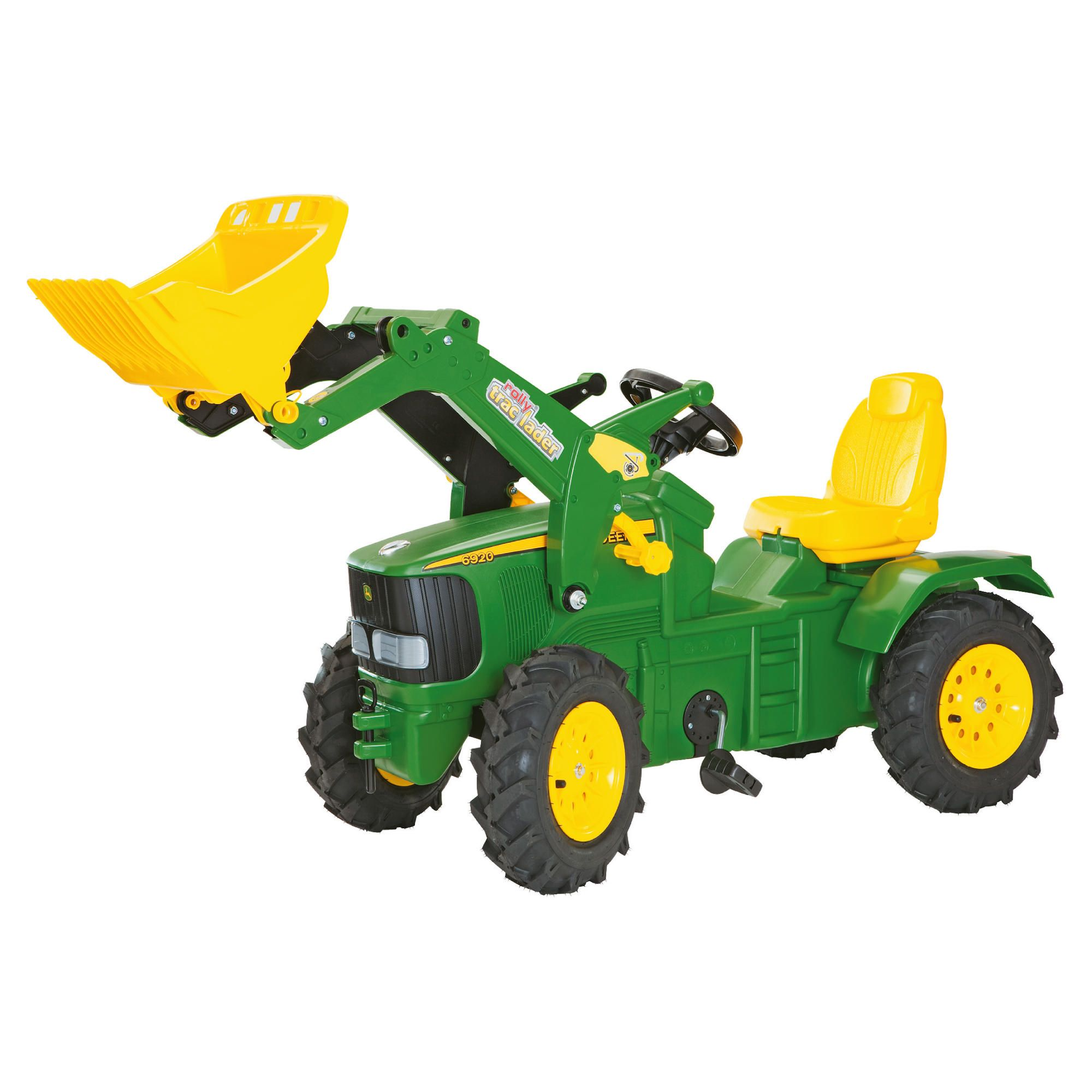 John Deere 6920 Ride-On Tractor With Pneumatic Tyres & Frontloader at Tesco Direct