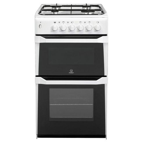 Indesit IT50GW, White, Gas Cooker, Single Oven, 50cm