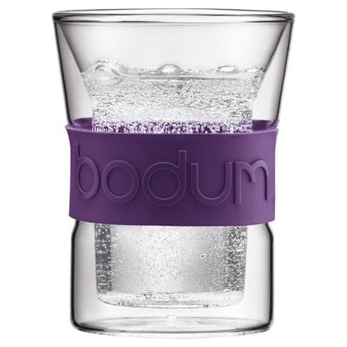 Bodum Presso Set of 2 0.2L Double Walled Glasses, Purple