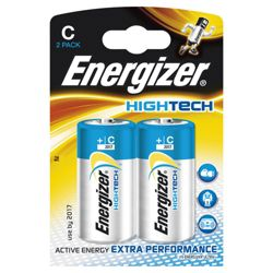 Energizer Hightech 2 Pack Alkaline C Batteries