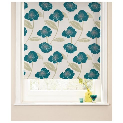 Poppy Roller Blind 120x160cm Teal