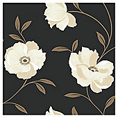 Arthouse Sophia Motif Black & Gold Wallpaper