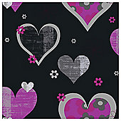 Arthouse Happy Hearts Blk/Pnk