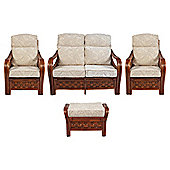 Santiago 4 Piece Suite Conservatory Set (sofa, 2 x chairs & Footstool)