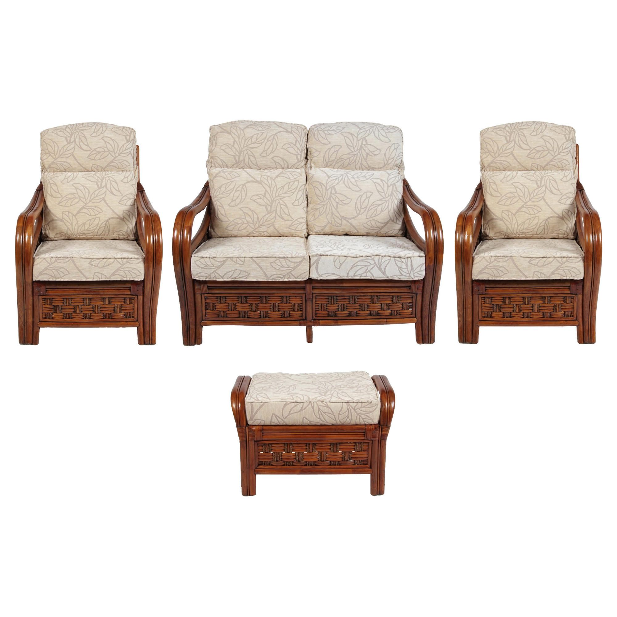 Santiago 4 Piece Suite Conservatory Set (sofa, 2 x chairs & Footstool) at Tescos Direct