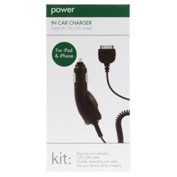 Kit In-car charger for the iPhone