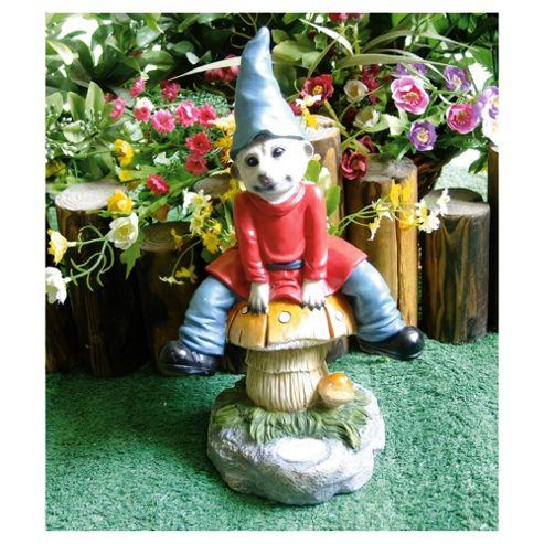 Solar Meerkat Gnome on Mushroom