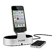 Pure i-20 iPod dock, Silver and Black