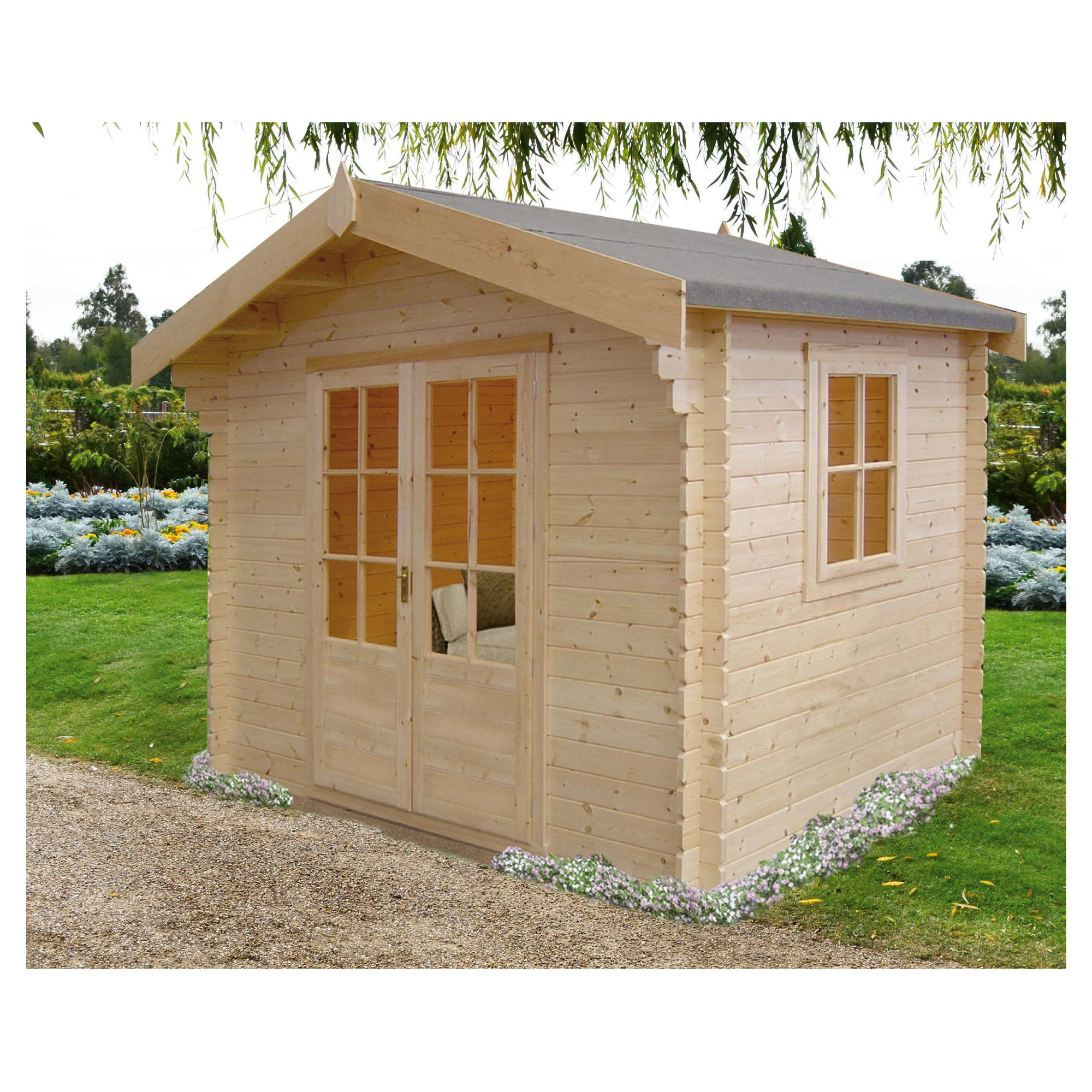 Finewood Fiston Log Cabin 8x8 - Installed at Tesco Direct