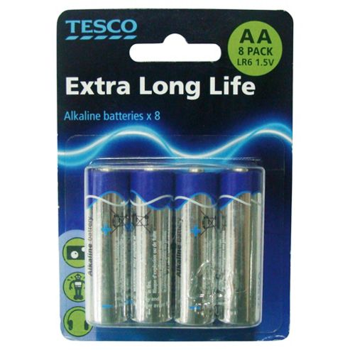 Tesco 8 Pack Alkaline AA batteries