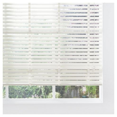 Sunflex Wood Venetian Blind Cream 60cm 50mm slats