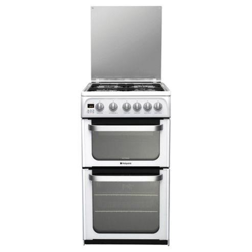 Hotpoint Hug52P White Double Oven Gas Cooker
