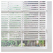 Wood Venetian Blind Pure White 105cm 50mm slats Drop 152cm