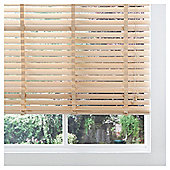 Wood Venetian Blind Natural 105cm 50mm slats Drop 148cm