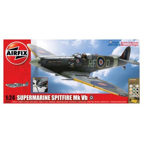 Airfix A50055 BBMF Supermarine Spitfire Mkvb 1:24 Scale Military Aircraft Gift Set