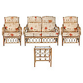 Morley 4 Piece Suite Conservatory Set (sofa, 2 x chairs & Lamp table)