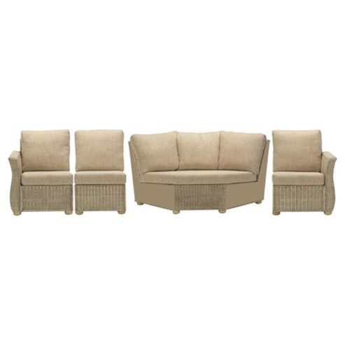 Corsica 4 Piece Suite Conservatory Set (Left, Right, Armless & Corner)