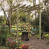 Cranborne Pergola - Includes Bolt Down Anchors