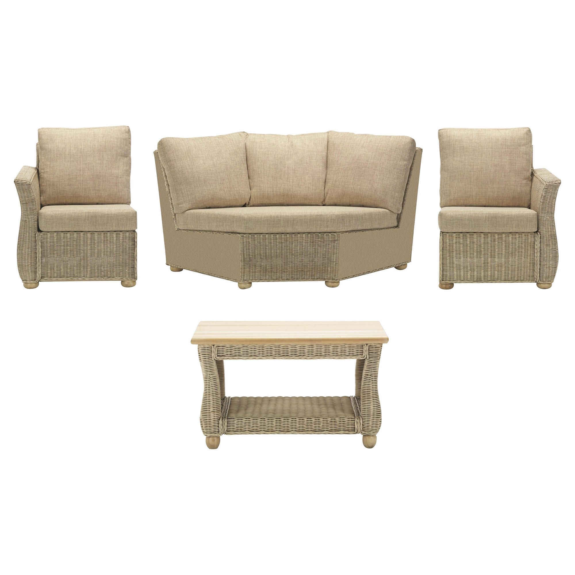 Corsica 4 Piece Suite Conservatory Set (Left, Right, Corner & Coffee table) at Tesco Direct