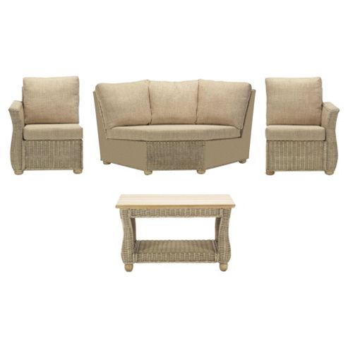 Corsica 4 Piece Suite Conservatory Set (Left, Right, Corner and Coffee table)