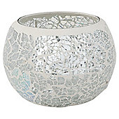 Tesco Mosaic Maxi Tealight Holder Silver.