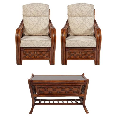 Santiago Chairs x 2 & Coffee Table Conservatory Set
