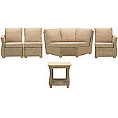 Corsica 5 Piece Suite Conservatory Set (Left, Right, Armless, Corner & Lamp table)