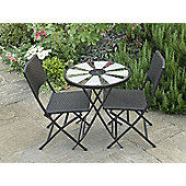 Aruba Solar Table Bistro Set