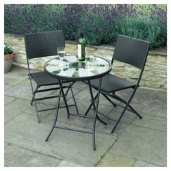 Solar Aruba Table Bistro Set
