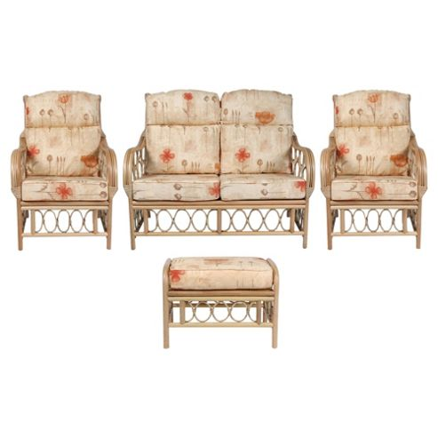 Morley 4 Piece Suite Conservatory Set (sofa, 2 x chairs & Footstool)