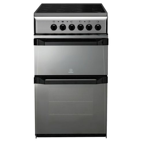Indesit IT50CM moonstone ceramic twin electric cooker